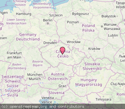 Map of country cz